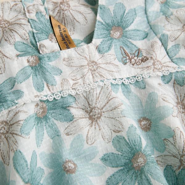 【金安德森】KA滿版印花方領上衣(共二色)