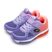 LIKA夢 LOTTO 輕量彈力慢跑鞋 G-MAX 翼行者2 系列 紫粉橘 3757 中童