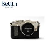 【出清特價】OLYMPUS E-PL8真皮相機底座 炭燒黑 原價990