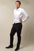【金‧安德森】白色舒適窄版長袖襯衫