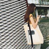包包女2018新款春夏季百搭大容量大包手提單肩托特休閒帆布「夢娜麗莎精品館」