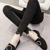 黑色打底褲女外穿2018春秋季仿牛仔緊身長褲韓版顯瘦鉛筆小腳褲薄