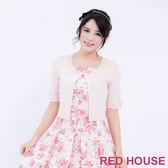 RED HOUSE-蕾赫斯-圓領亮片短版針織小外套(共2色)