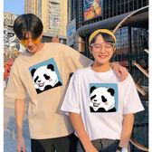 情侶裝  情侶T 潮T 純棉短T MIT台灣製 短袖t恤【YC623】KUSO 害羞貓熊 快速出貨