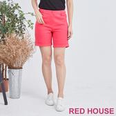 【RED HOUSE 蕾赫斯】素面反摺短褲(共3色)