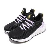 adidas 慢跑鞋 Alphaboost IWD 黑 紫 女鞋 Boost 緩震舒適 運動鞋 【ACS】 EH0426