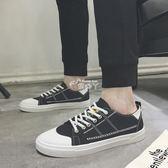 夏季布鞋男士透氣帆布鞋韓版潮流百搭板鞋學生小白鞋運動休閒男鞋 俏腳丫