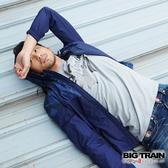 Big Train 貼布繡金漿文字圓領T-男-淺灰-B8061483