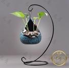 花瓶 創意懸掛綠蘿水培花瓶容器水養植物花盆鮮花插花陶瓷桌面裝飾擺件-限時折扣