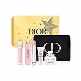 CD Dior 迪奧 粉漾俏唇雙星5件組 (潤唇膏3.5g+唇蜜6ml+美肌萃7ml+淡香水5ml+美妝包)【美人密碼】