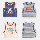 兒童背心 季兒童韓版上衣小童夏裝2019新款童裝寶寶汗衫男洋氣潮 莎瓦迪卡