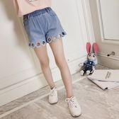 童裝兒童褲子女夏裝韓版中大童女童牛仔褲時尚熱褲短褲潮梗豆物語