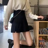 半身裙子女秋冬高腰顯瘦百搭彈力a字短褲裙【橘社小鎮】