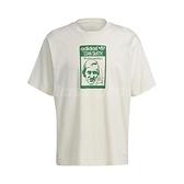 adidas 短袖T恤 Original Tee Tongue Stan 米白 綠 男款 短T 運動休閒 【ACS】 GQ8873
