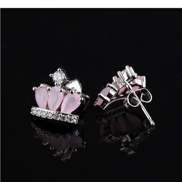 【5折超值價】最新款時尚精美彩色水晶石鑲鑽造型女款耳飾