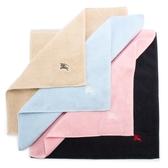 BURBERRY素面100%棉質方巾(5色)081008