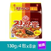 韓國 不倒翁OTTOGI-金螃蟹海鮮風味拉麵(130g/4包x8袋)-箱購