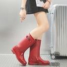 雨鞋女高筒韓國可愛時尚款外穿雨靴長筒水鞋防水防滑水靴成人套鞋   【雙十二免運】