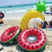 超大火烈鳥游泳圈菠蘿成人女腋下充氣浮圈加厚網紅泳圈水上救生圈·IfashionYTL