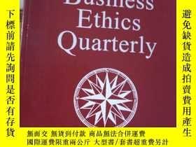二手書博民逛書店BUSINESS罕見ETHICS QUARTERLYY15389