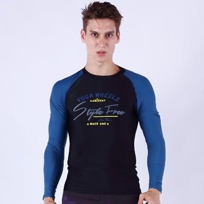 潛水衣 長袖套裝-戶外緊身速乾排汗男水母衣3色73mf24[時尚巴黎]