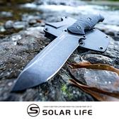 SRM S745黑石洗全平磨防滑不鏽鋼直刀 GB黑色.露營刀野營刀 求生小刀 登山獵刀 戶外野炊刀具