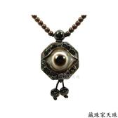《藏珠家天珠》精品42mm財咒八卦天眼+八吉祥天珠項鍊