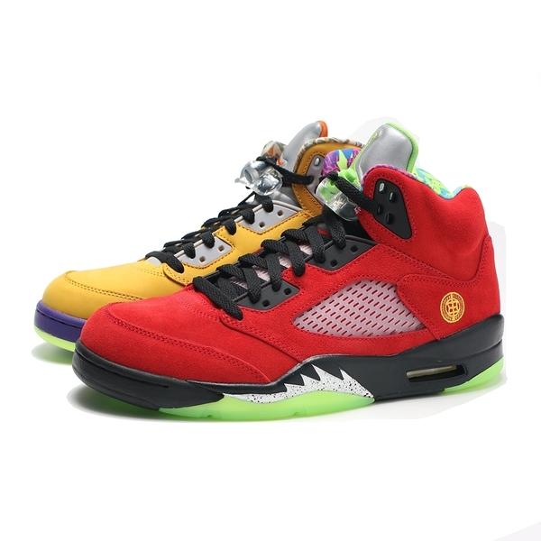 "NIKE 籃球鞋 AIR JORDAN 5 RETRO SE ""WHAT THE"" 喬丹 紅黃 鴛鴦 麂皮 男 (布魯克林) CZ5725-700"