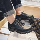 秋季皮鞋男英倫休閒正裝男鞋青年韓版潮流百搭學生黑色帥氣小皮鞋 依凡卡時尚