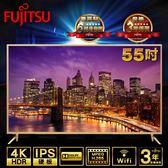 【Fujitsu 富士通】日系品牌 家電暢銷熱賣 4K HDR 高畫質高解析度 智慧連網液晶顯示器-55吋(V55T-1R)