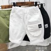 男童純棉短褲夏裝薄款寬鬆洋氣五分褲兒童夏季中褲寶寶韓版工裝褲 韓語空間