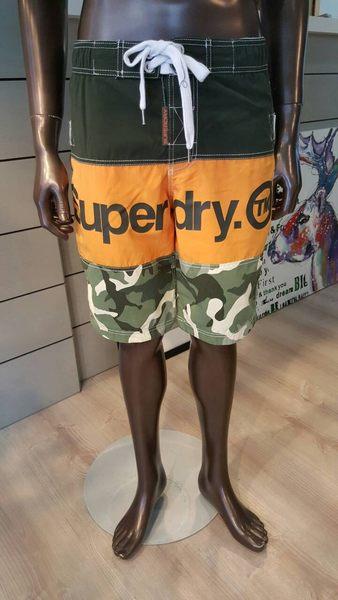 SUPERDRY 極度乾燥 男生 海灘褲 短褲 墨綠/橘/迷彩 【美國麋鹿】