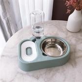 貓碗不銹鋼狗碗雙碗自動飲水器兩用貓寵物糧狗食盆貓咪用品-Ifashion