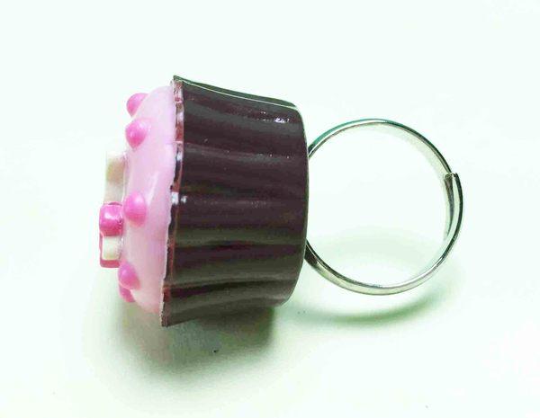 【震撼精品百貨】Hello Kitty 凱蒂貓~巧克力戒指-粉杯子