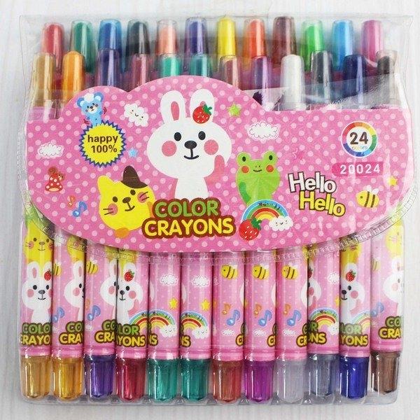 24色旋轉蠟筆 東奇DQ-20024(短型袋裝)/一箱6小盒入(促129) 彩桿-萬