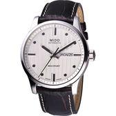 MIDO 美度 Multifort 先鋒系列經典機械手錶-銀x咖啡/42mm M0054301603180