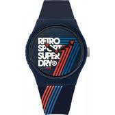 【台南 時代鐘錶 Superdry】極度乾燥 美式和風 文化衝擊潮流腕錶 Urban系列 SYG181U 38mm