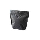 《荷包袋》氣閥咖啡袋 夾鏈站立袋 矮型 1/2磅 黑色