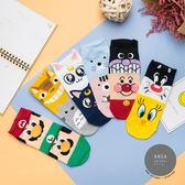 正韓直送 【K0404 】  韓國襪子  拼接卡通人物短襪 韓妞必備短襪 阿華有事嗎