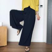 韓國韓 寬鬆 直筒褲寬管褲 正韓每人必備完全不皺寬褲 艾爾莎 【TG300235】
