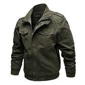 軍裝外套-立領寬鬆純棉個性純色男夾克3色73wn15[巴黎精品]
