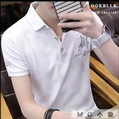 短袖t恤韓版襯衫領polo衫