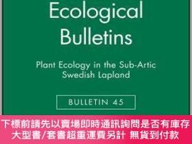 二手書博民逛書店預訂Plant罕見Ecology In The Subartic Swedish Lapland: Ecologi