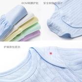 嬰兒秋裝純棉衣服新生兒連體衣寶寶長袖三角包屁衣高腰護肚褲套裝