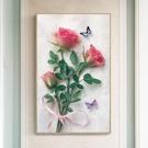 鑽石畫 十字繡2019新款客廳家用滿鉆秀簡約現代玫瑰花卉小幅件點貼鉆石畫【萬聖夜來臨】