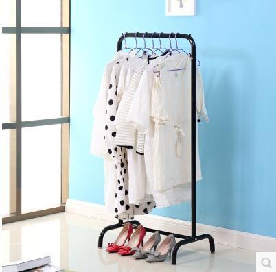 簡易時尚衣帽架歐式落地掛衣架臥室創意宜家鐵藝衣服架子
