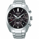 SEIKO精工ASTRON 5X53雙時區太陽能手錶 5X53-0AJ0D SSH021J1 灰黑