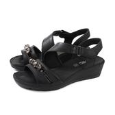 IMAC 涼鞋 義大利製 厚底 黑色 水鑽 女鞋 307560.1400.011 no041