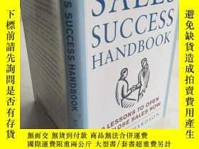 二手書博民逛書店The罕見Sales Success Handbook 【英文原