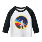 火箭升空棉感長袖上衣 童裝 T-shirt